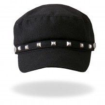 Black Studded Hat