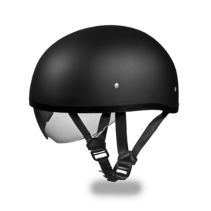 D.O.T. Daytona Skull Cap with inner shield Flat Black
