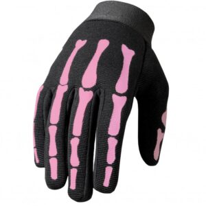 Mechanics Gloves Pink Skeleton