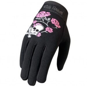 Mechanics Gloves Skull and Roses